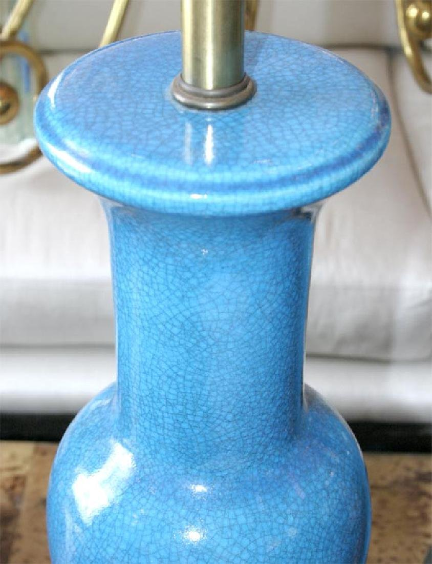 Pair of Fredric Cooper Blue Table Lamps - 5
