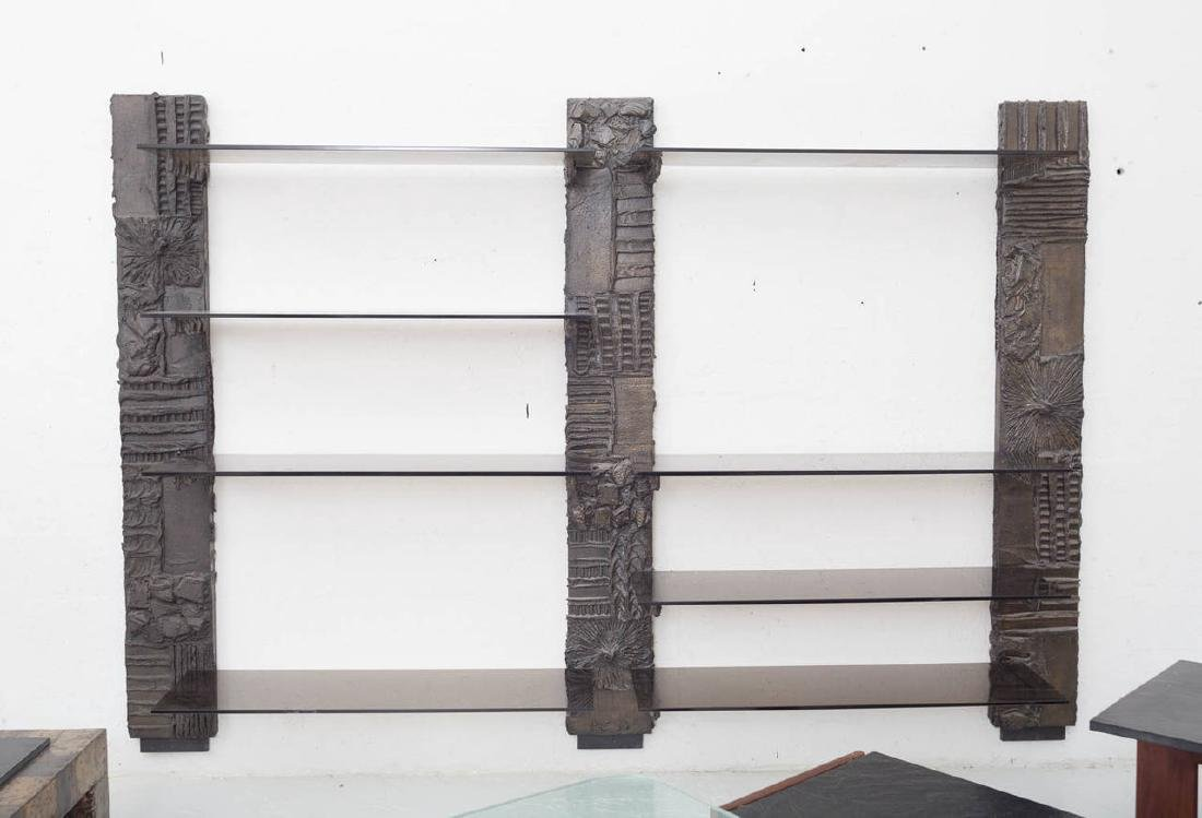 Paul Evans Sculpted Bronze Etagere - 2