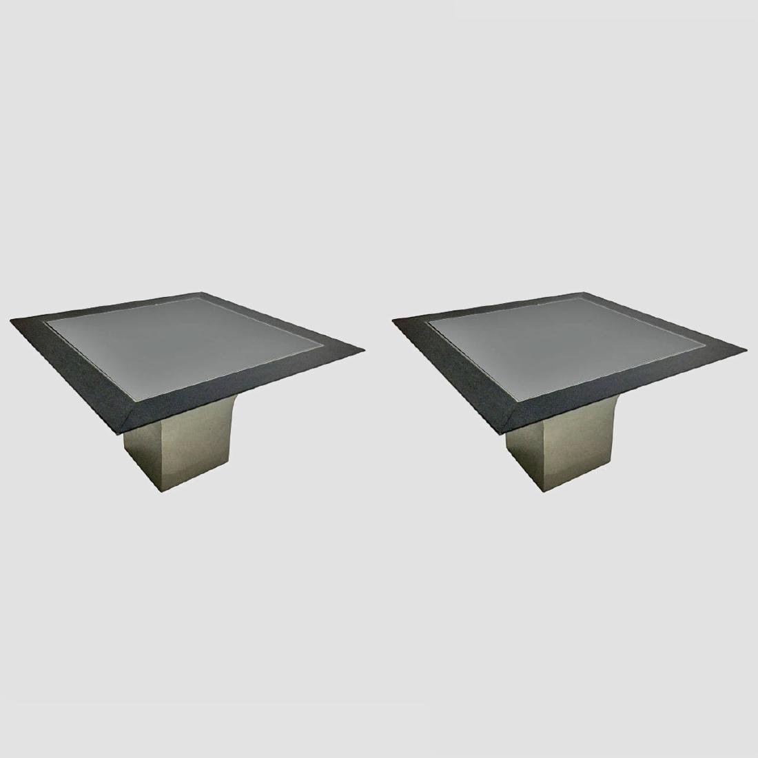 Steel Pedestal Center Tables by Pace