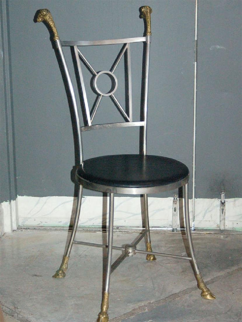 Maison Jansen Steel & Brass Chairs - 3