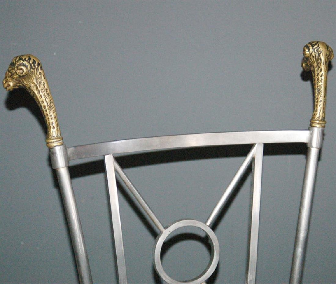 Maison Jansen Steel & Brass Chairs - 5