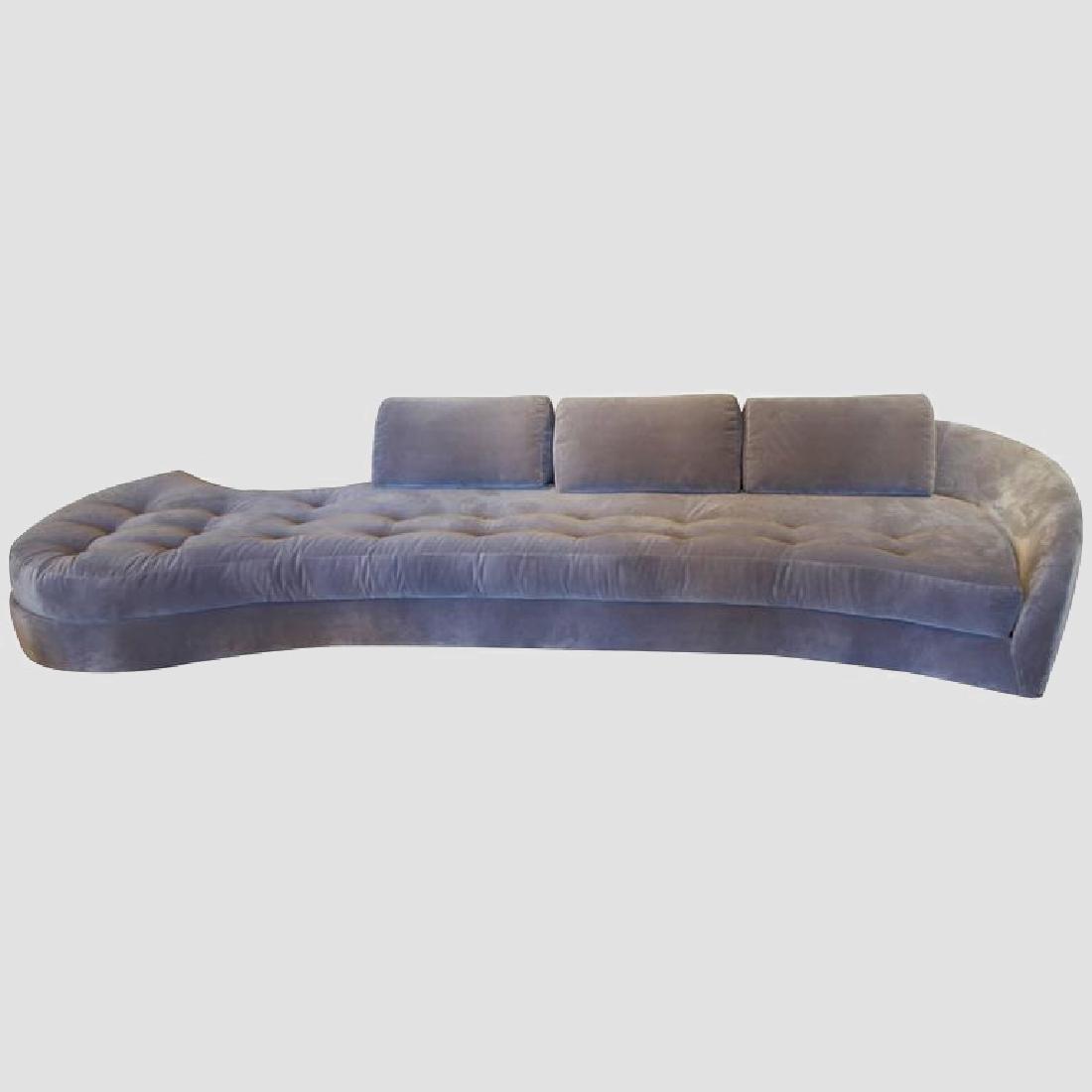 1950's Long Serpentine Sofa