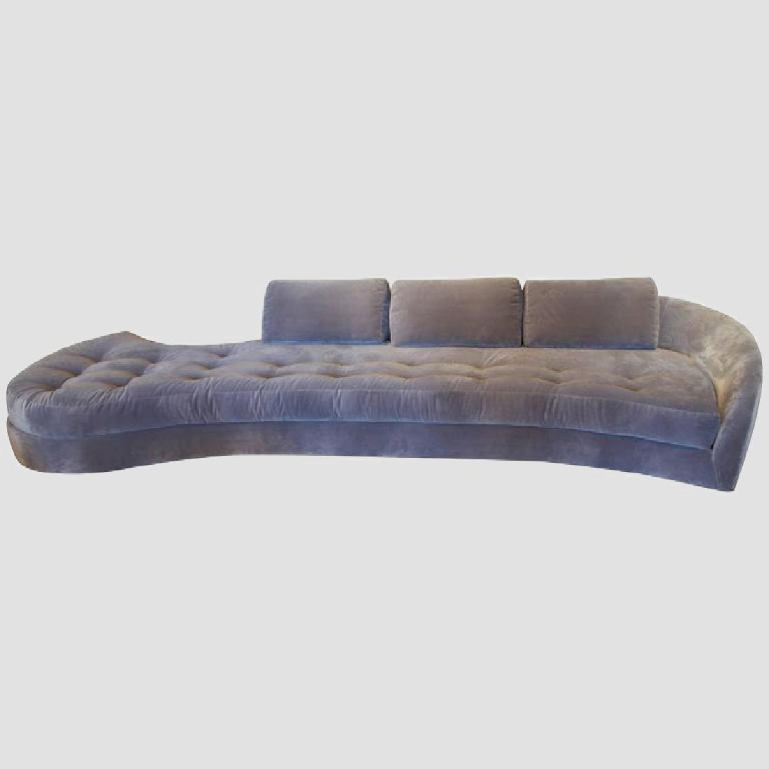 1950's Long Serpentine Sofa