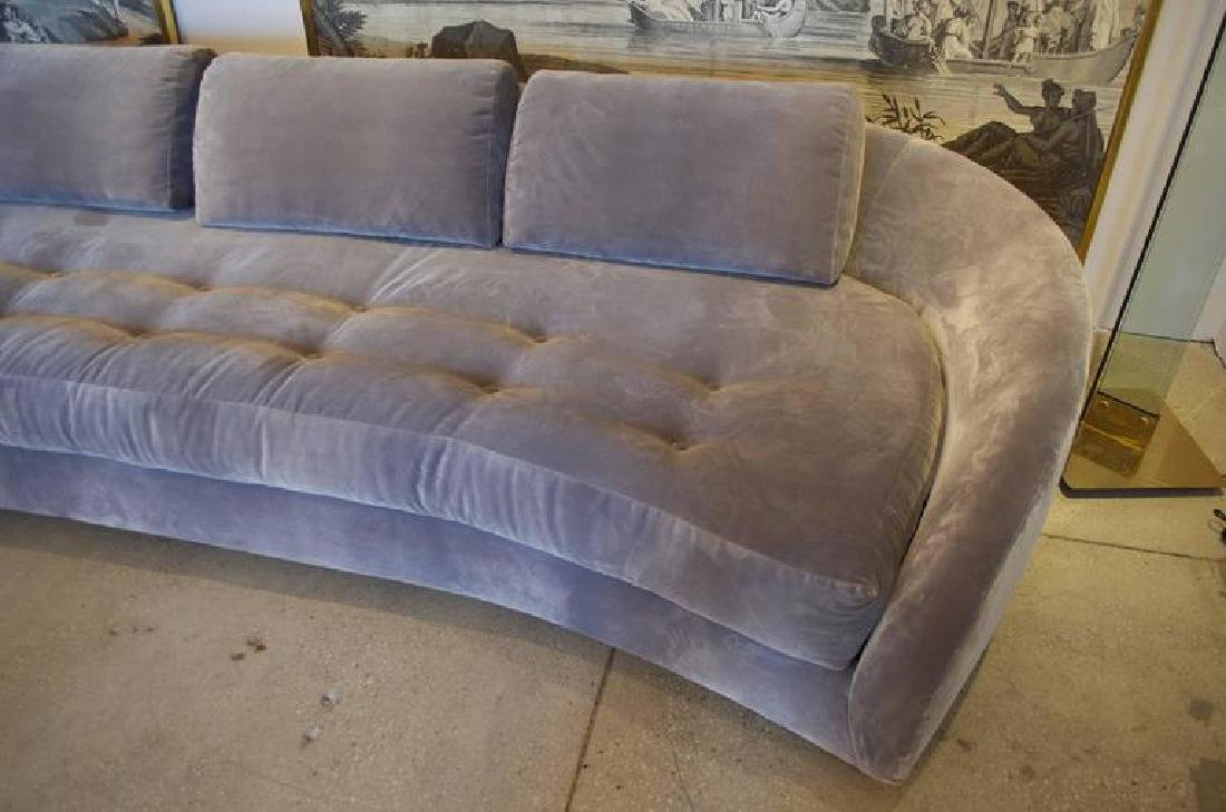 1950's Long Serpentine Sofa - 2