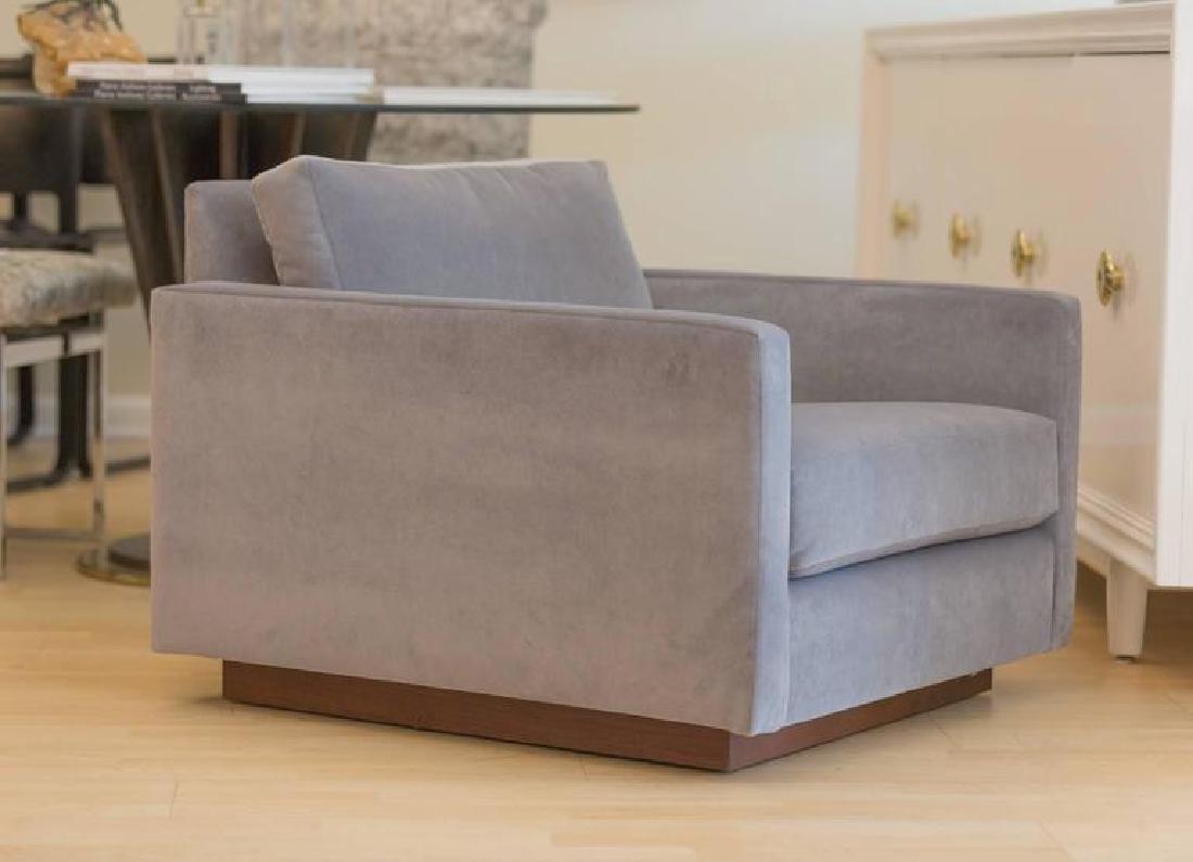 Harvey Probber Velvet Cube Chairs - 2