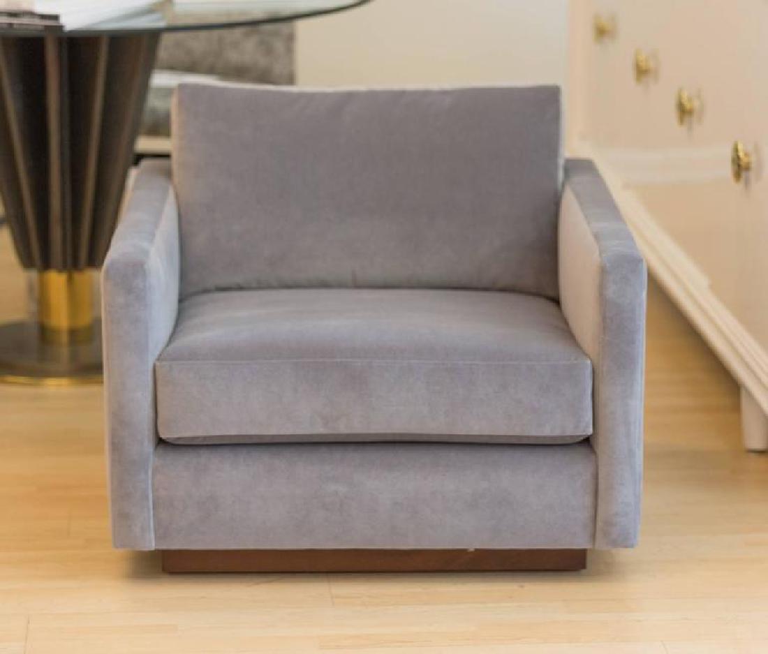 Harvey Probber Velvet Cube Chairs - 3