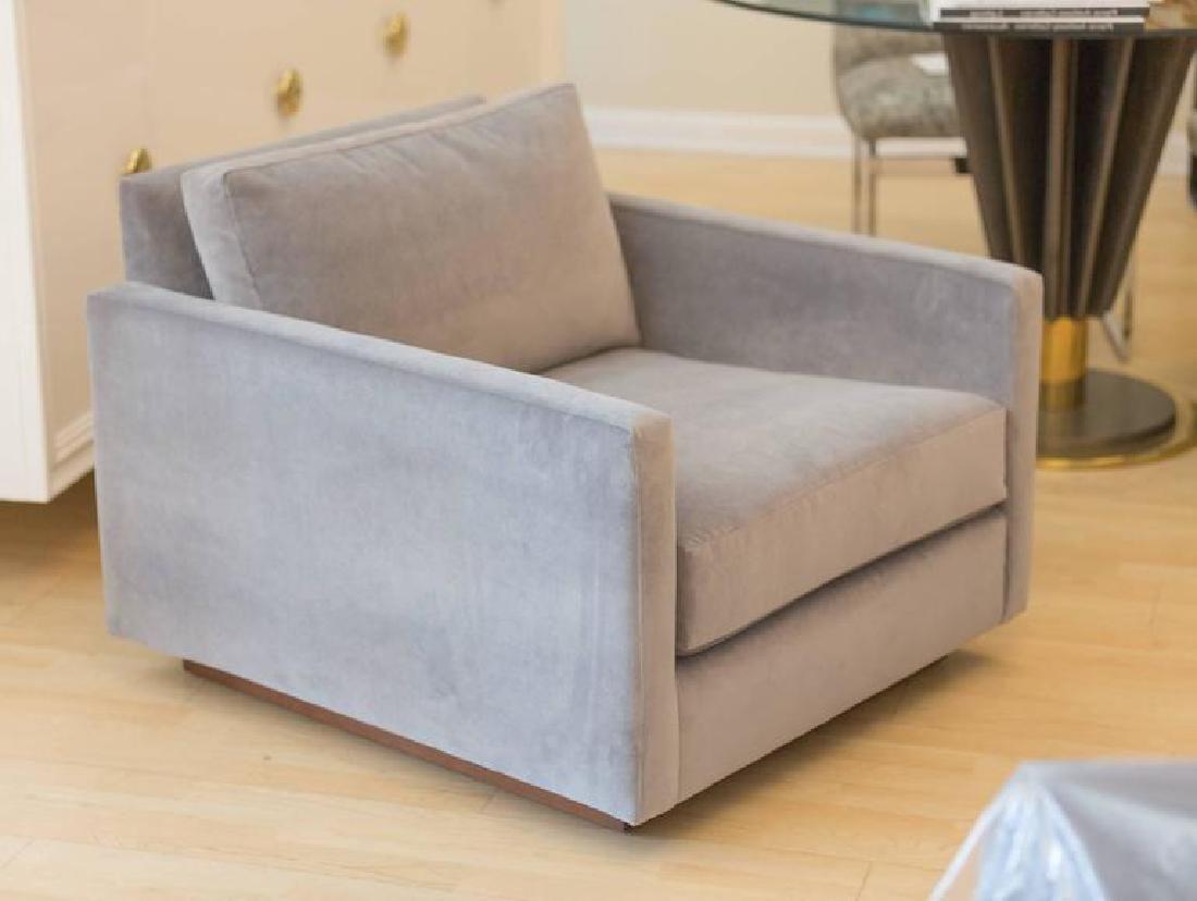 Harvey Probber Velvet Cube Chairs - 4