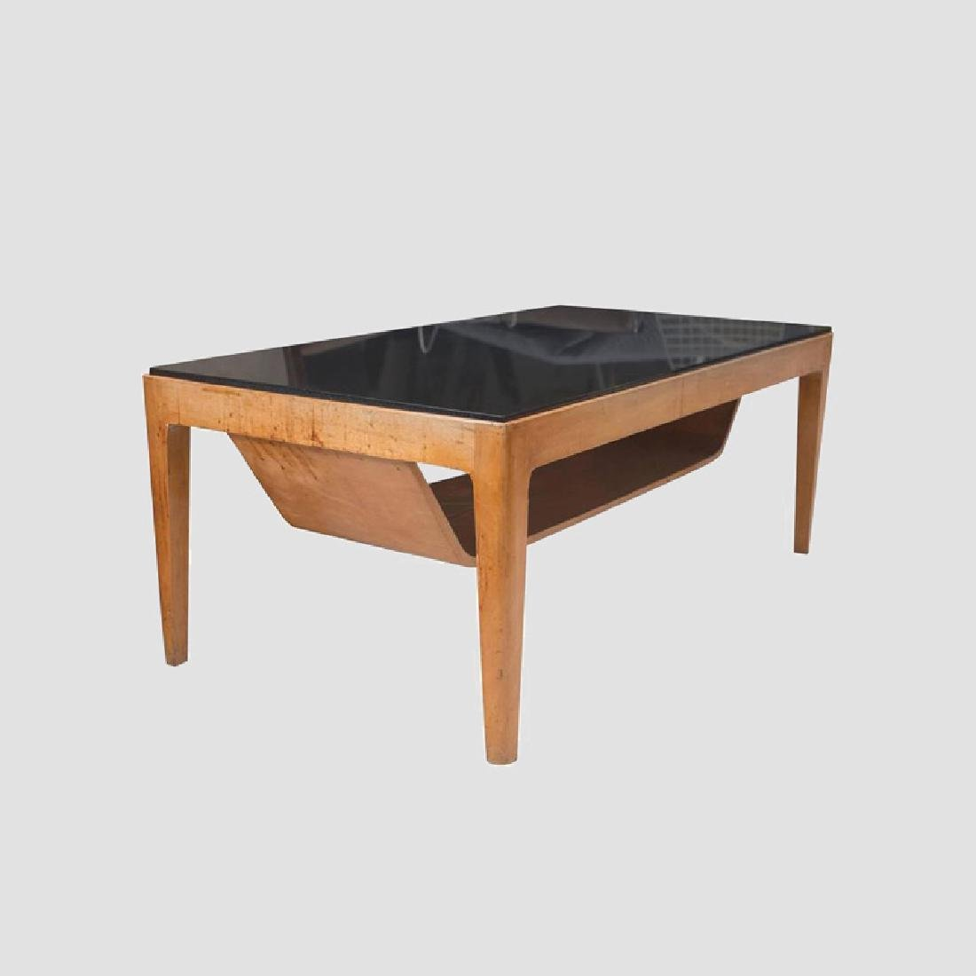 1950's Italian Coffee Table with Nero Andes Top