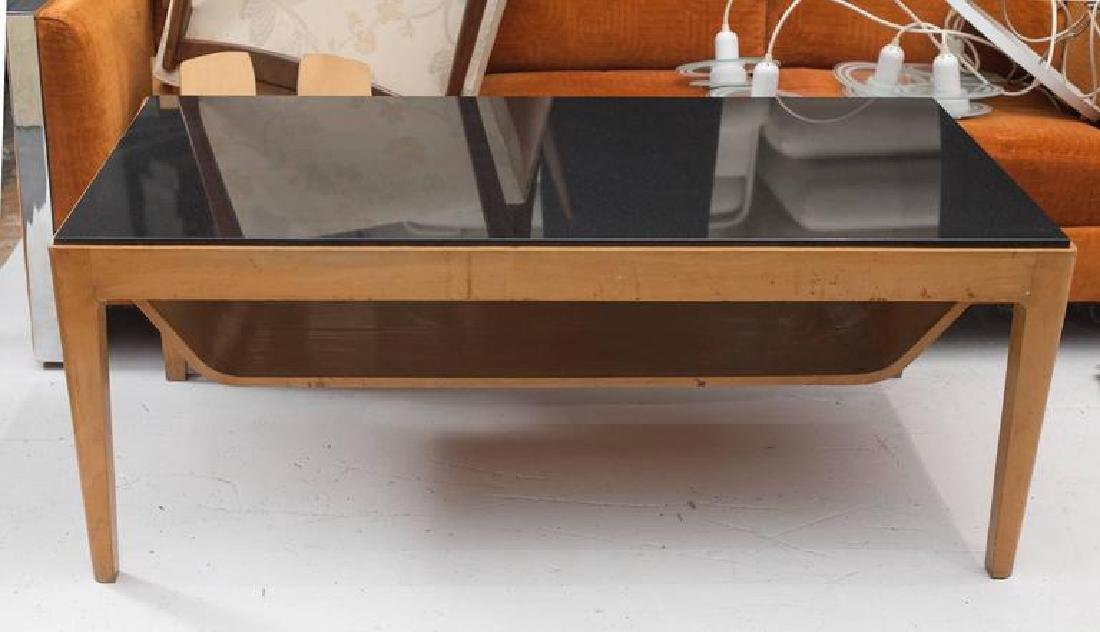 1950's Italian Coffee Table with Nero Andes Top - 2