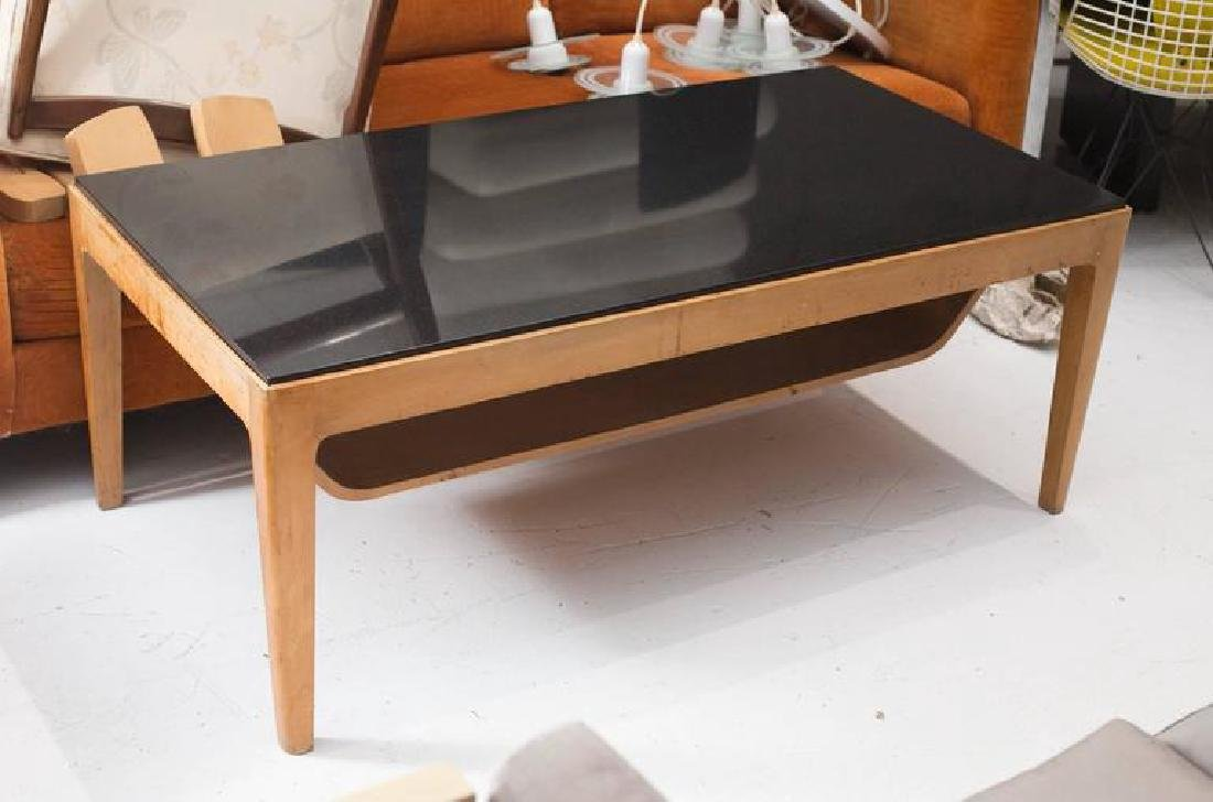1950's Italian Coffee Table with Nero Andes Top - 3