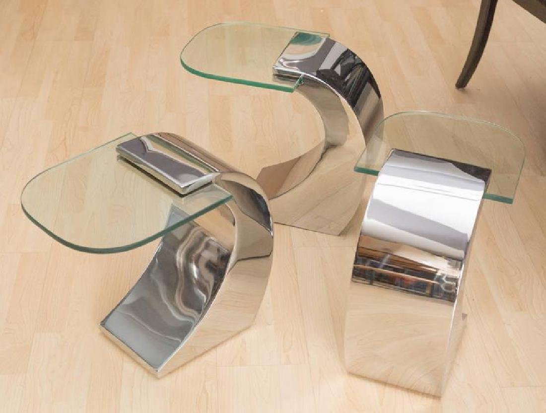 Pierre Cardin Set of 3 Side Tables or Cocktail Table - 3