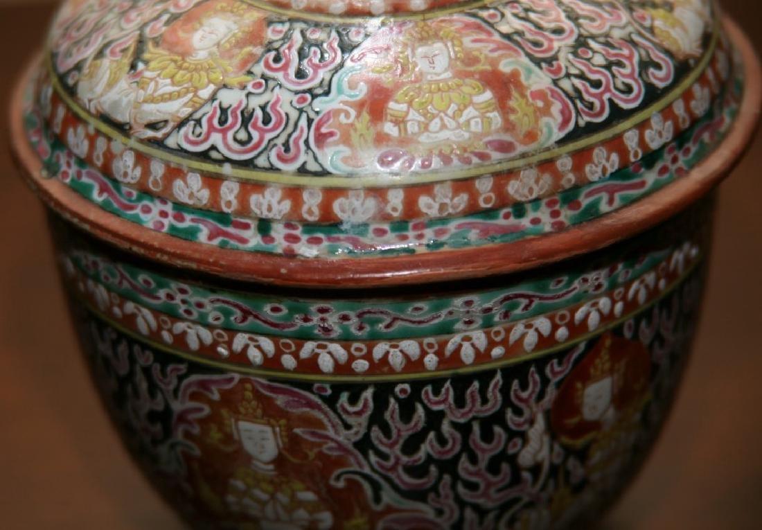 Bencharong Covered Bowl, Thailand, 18/19th Century - 2