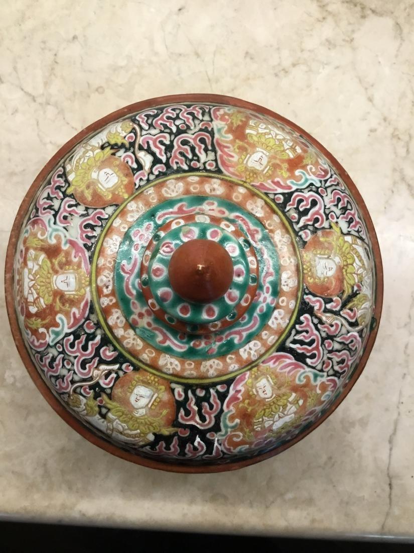 Bencharong Covered Bowl, Thailand, 18/19th Century - 6
