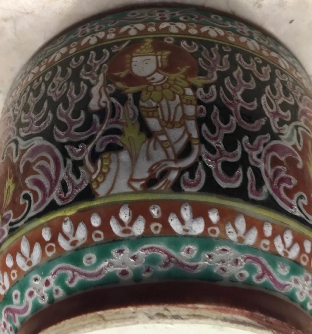 Bencharong Covered Bowl, Thailand, 18/19th Century - 8