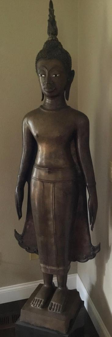 Buddha, Bronze, Laos, 17-19th Century