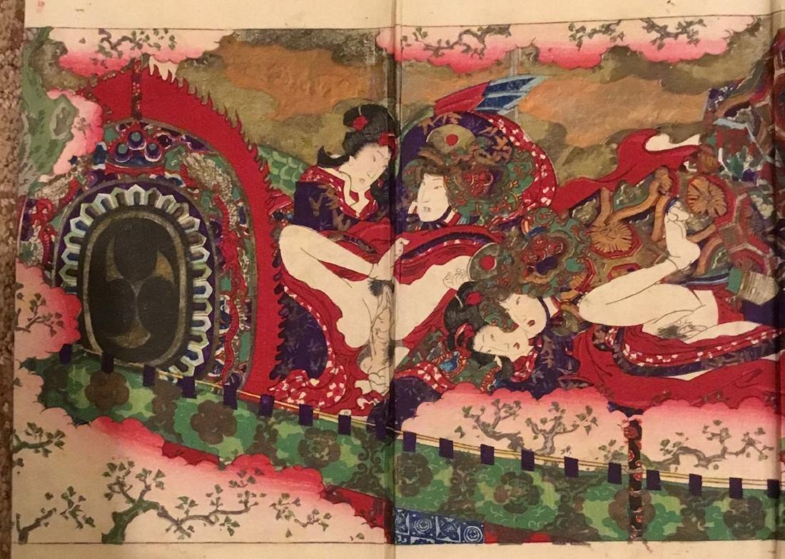 Tales of Genji, Kunisada III, Woodblock Book, Japan, - 4
