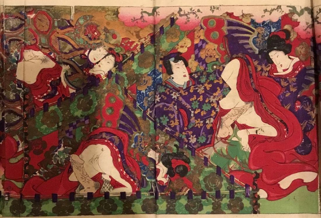 Tales of Genji, Kunisada III, Woodblock Book, Japan, - 6