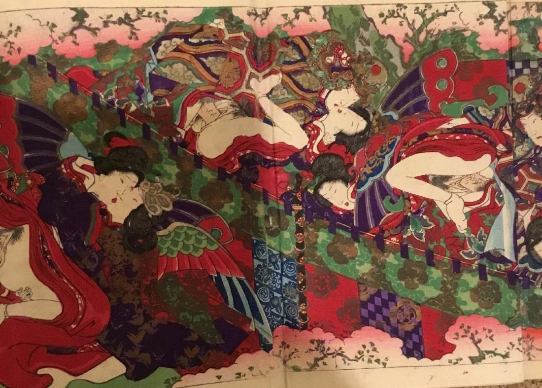 Tales of Genji, Kunisada III, Woodblock Book, Japan, - 7
