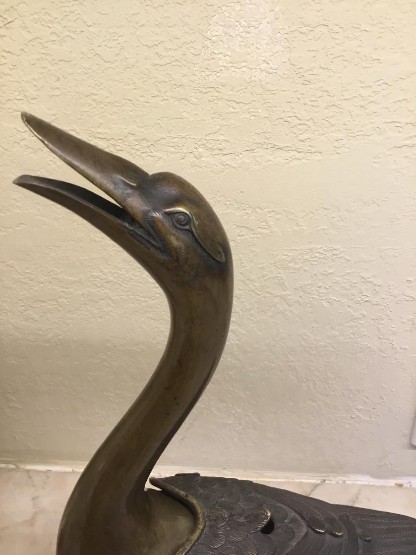Bronze Goose Censer, Japan, Maiji Period - 3