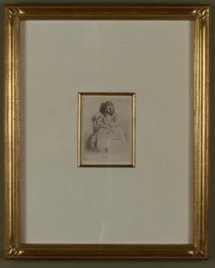 Etching, Annie Seated,by James Abbott McNeill Whistler