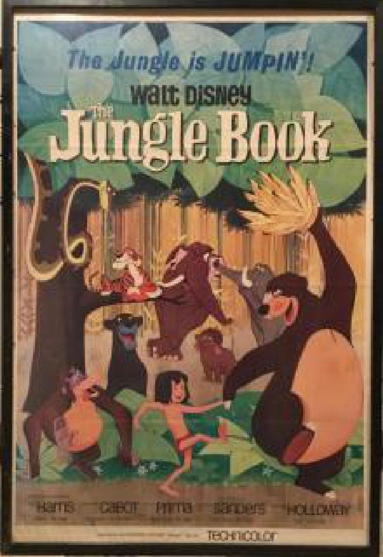 Stone Lithograph Poster, Jungle Book, Disney Studios