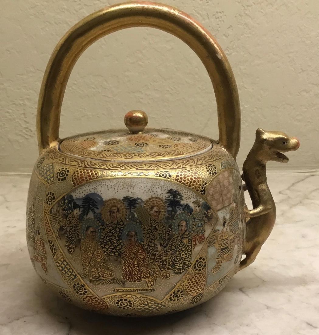 Satsuma Teapot with Dragon Spout, Meiji Period - 2