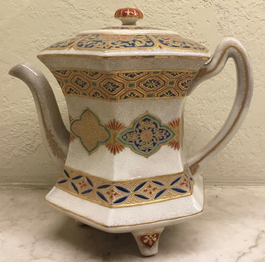 Octagonal Satsuma Teapot,Japan, Meiji Period