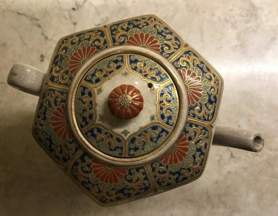 Octagonal Satsuma Teapot,Japan, Meiji Period - 2