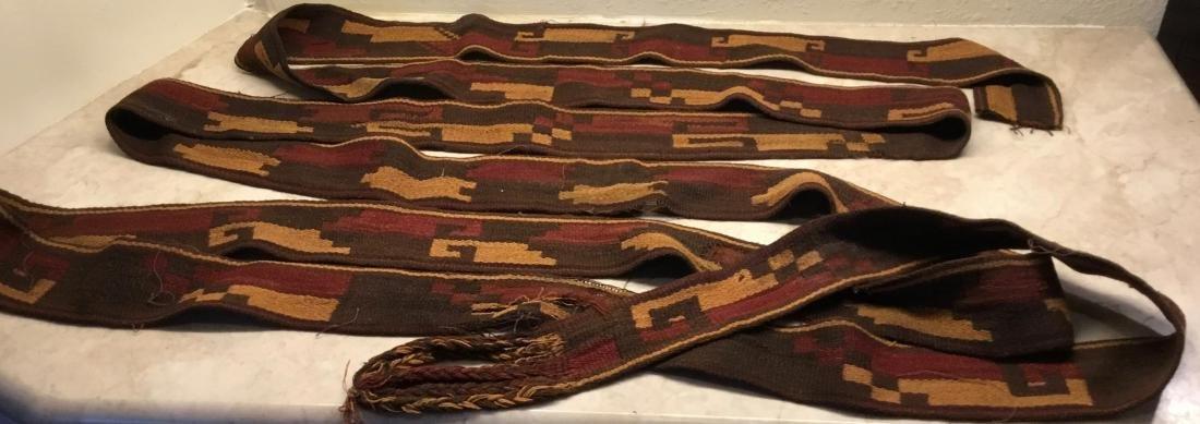 Pre-Columbian Textile, Long Strap, Siguas Culture, Peru
