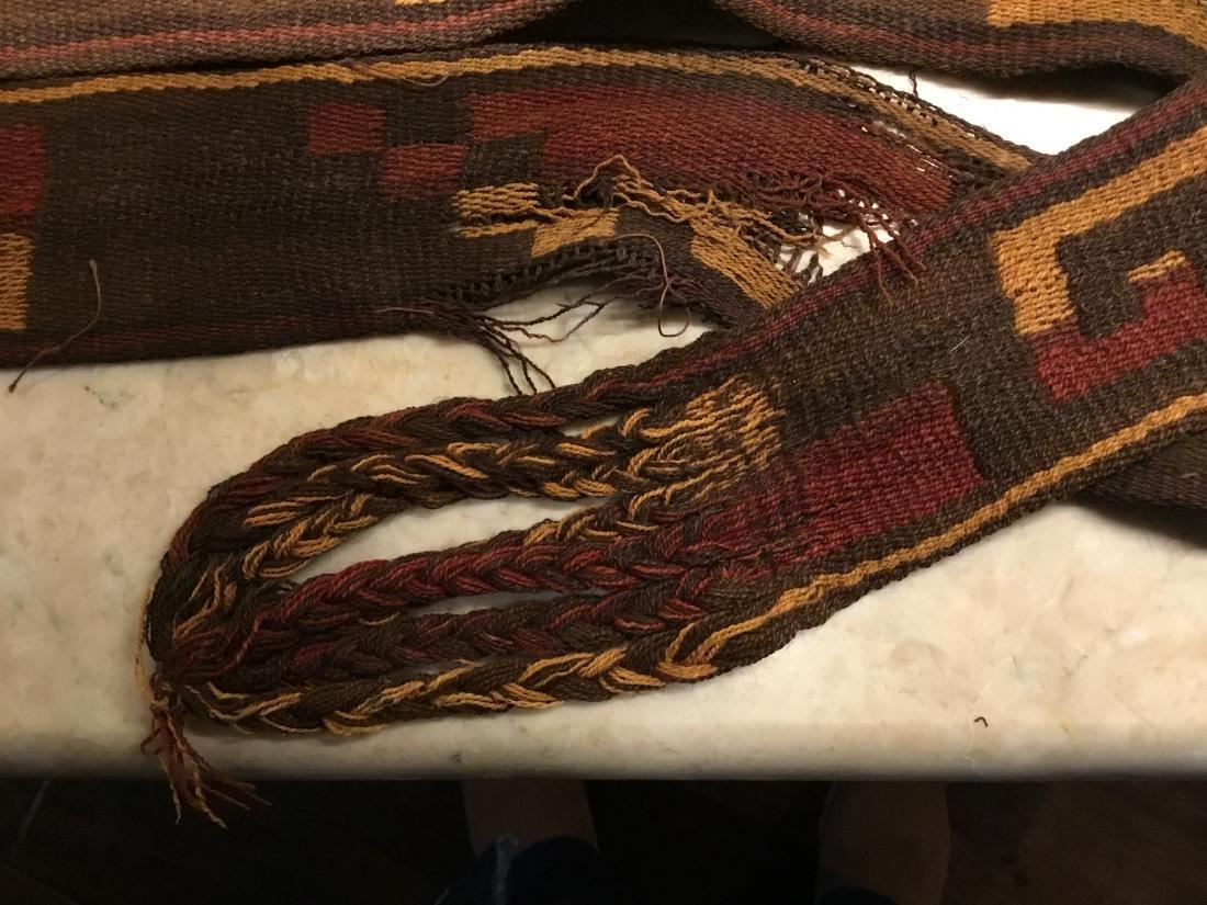 Pre-Columbian Textile, Long Strap, Siguas Culture, Peru - 3
