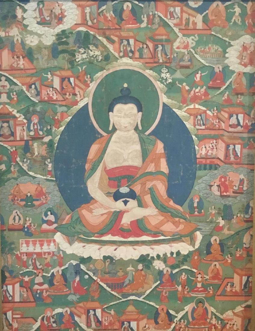 Jataka Thangka, Bhutan, 18th/19th Century