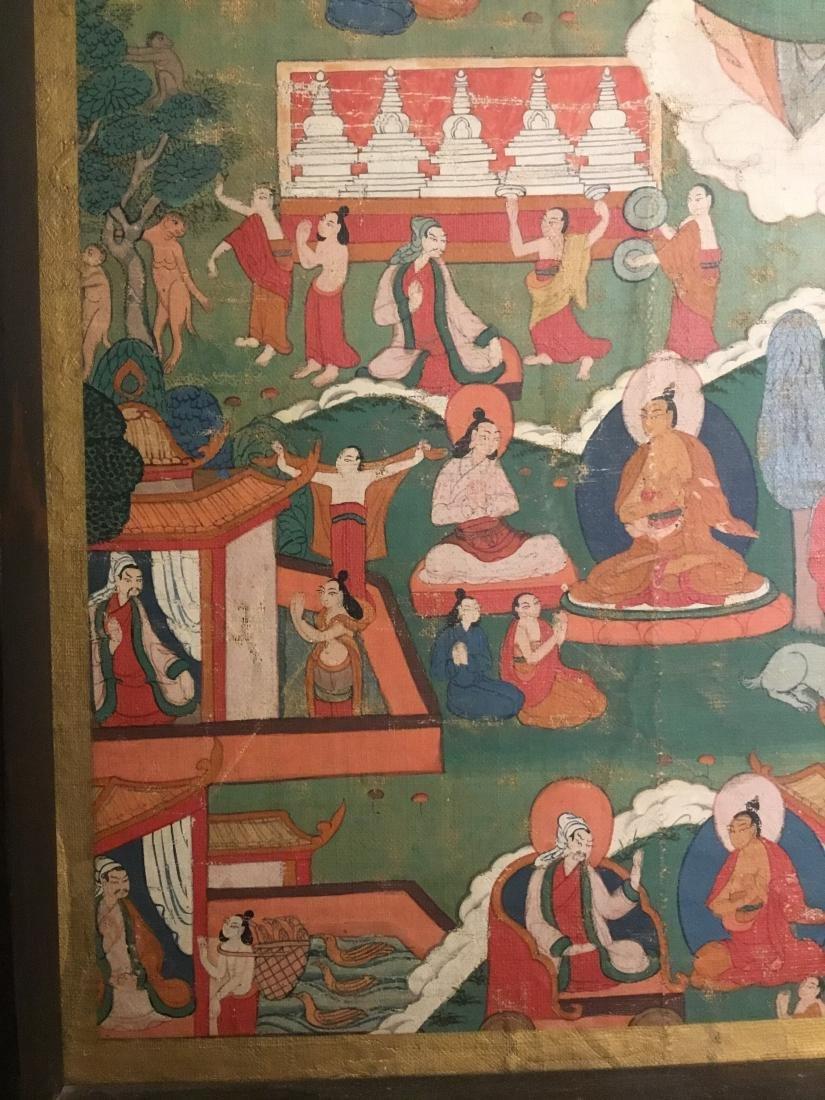 Jataka Thangka, Bhutan, 18th/19th Century - 4