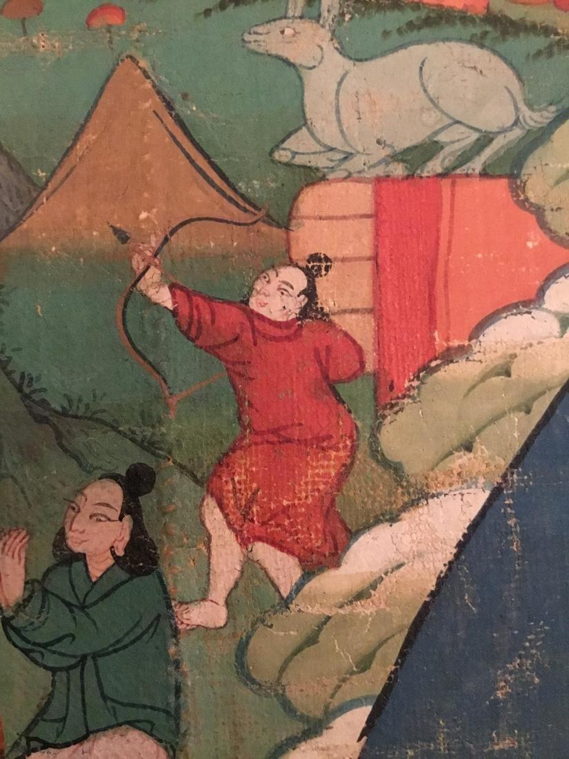 Jataka Thangka, Bhutan, 18th/19th Century - 8