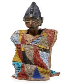 Yoruba Ibeji with Beaded Cloak