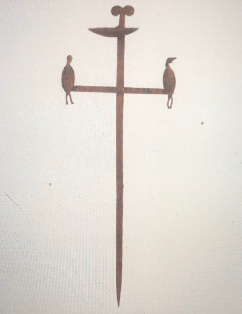 Wrought Iron Candle Stand with Birds