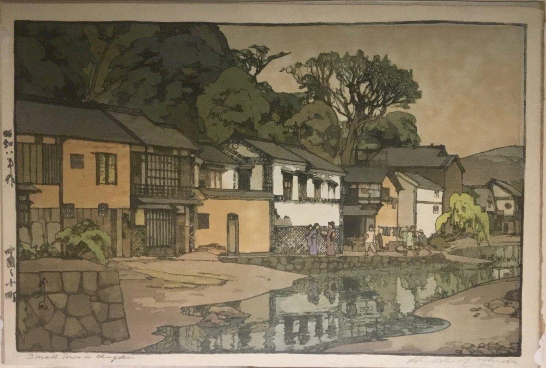 Woodblock Print, Small Town in Chugoku, by Hiroshi