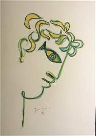 Crayon Drawing, Orpheus, by Jean Cocteau (1889-1963)