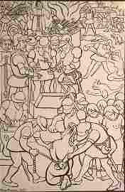 Lithograph, Los abusos de los conquistadores, by Diego
