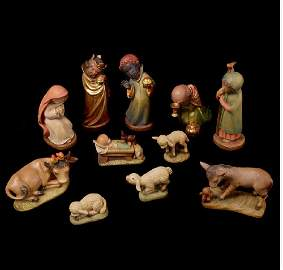 Large Anri Wooden Nativity by Juan Ferrandiz