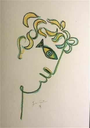 Crayon Drawing, Orpheus, After Jean Cocteau (1889-1963)