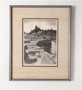 Stow Wengenroth Lithograph, Flat Rock Cove