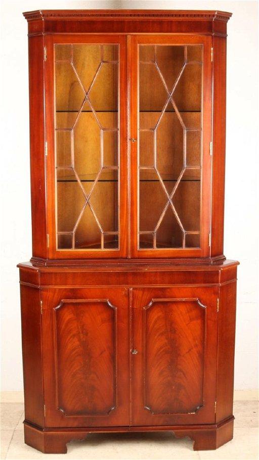 Old English Mahogany Corner Cabinet Style Furniture S