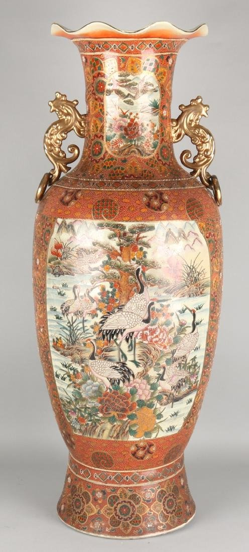 Japanese capital satsuma collar vase with dragon large japanese capital satsuma collar vase with dragon reviewsmspy