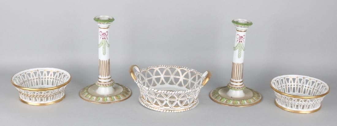 Five volumes of German Fürstenberg porcelain. 20th cent