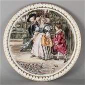 Large hand painted German 'Fürstenberg' porcelain table