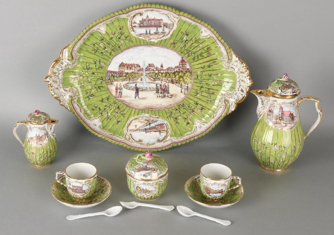 German 'KPM'. porcelain 'Tete a Tete' service. 'Hand-ma