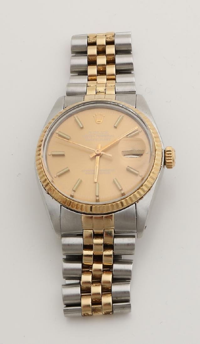 Rolex watch, oyster perpetual datejust, case and band in steel with gold. ø 34 m