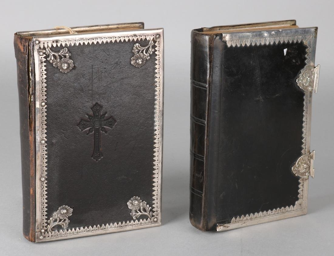 Two bibles with silver fittings, Gefangbuch der Hannover (d) and landeskirche, 1