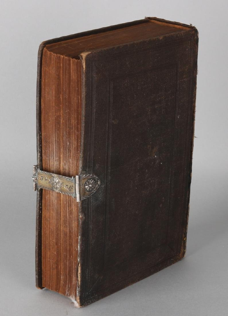 Bible with silver lock. The Old Testament (1896), with leather cover with a silv