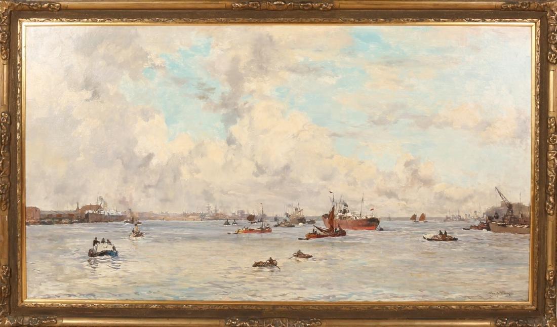 Johan Hendrik van Mastenbroek. 1875 - 1945. Known great work. View of Maashaven